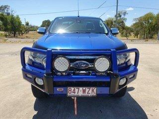 2017 Ford Ranger PX MkII XLT Super Cab Aurora Blue 6 Speed Sports Automatic Utility.