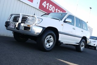 2004 Toyota Landcruiser HDJ100R GXL White 5 Speed Automatic Wagon.