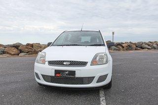 2008 Ford Fiesta WQ LX White 5 Speed Manual Hatchback.