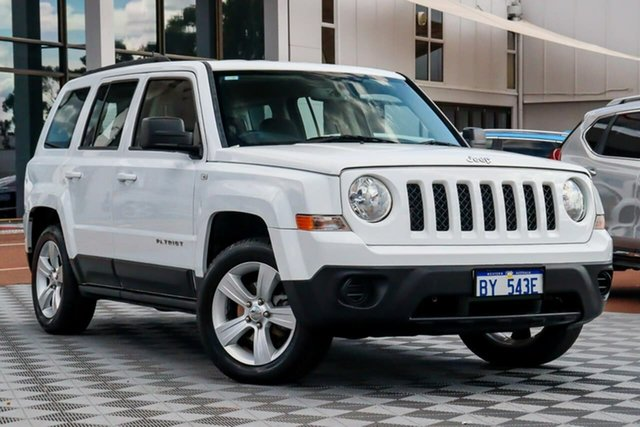 Used Jeep Patriot MK MY2013 Sport CVT Auto Stick 4x2, 2013 Jeep Patriot MK MY2013 Sport CVT Auto Stick 4x2 White 6 Speed Constant Variable Wagon
