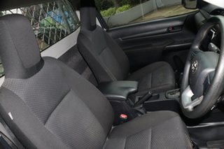 2018 Toyota Hilux TGN121R Workmate 4x2 Graphite 6 Speed Automatic Cab Chassis