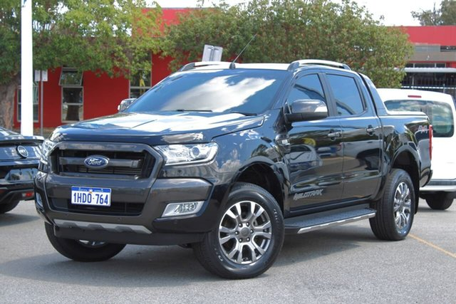 Used Ford Ranger PX MkII 2018.00MY Wildtrak Double Cab, 2018 Ford Ranger PX MkII 2018.00MY Wildtrak Double Cab Black 6 Speed Sports Automatic Utility