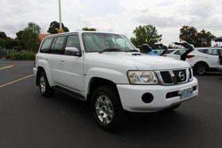 2005 Nissan Patrol GU IV MY05 ST-S Polar White 5 Speed Manual Wagon.