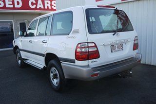 2004 Toyota Landcruiser HDJ100R GXL White 5 Speed Automatic Wagon