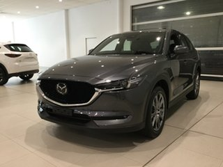 2019 Mazda CX-5 KF4W2A Akera SKYACTIV-Drive i-ACTIV AWD Machine Grey 6 Speed Sports Automatic Wagon
