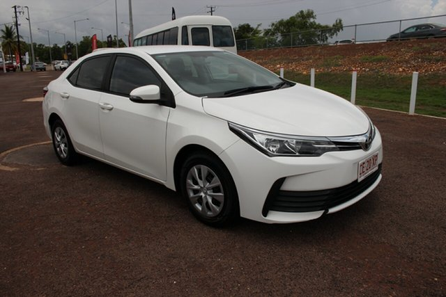 Pre-Owned Toyota Corolla ZRE172R Ascent S-CVT Darwin, 2017 Toyota Corolla ZRE172R Ascent S-CVT Glacier White 7 Speed Constant Variable Sedan