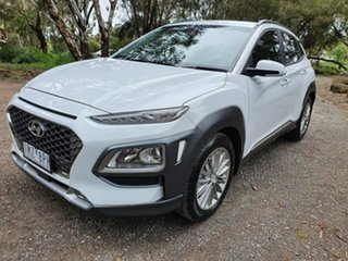 2018 Hyundai Kona OS Elite White Sports Automatic Wagon.