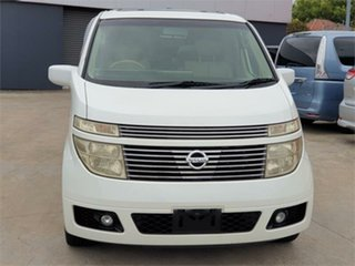2003 Nissan Elgrand E51 XL White Automatic Wagon.