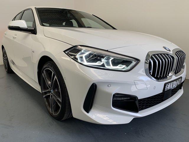 Demo BMW 1 Series F40 118i DCT M Sport, 2020 BMW 1 Series F40 118i DCT M Sport Alpine White 7 Speed Sports Automatic Dual Clutch Hatchback