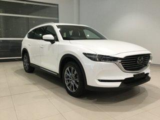 2019 Mazda CX-8 KG4W2A Asaki SKYACTIV-Drive i-ACTIV AWD Snowflake White 6 Speed Sports Automatic.