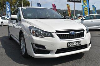 2016 Subaru Impreza G4 MY16 2.0i AWD White 6 Speed Manual Hatchback.
