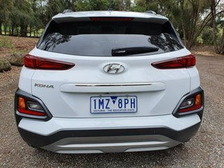 2018 Hyundai Kona OS Elite White Sports Automatic Wagon
