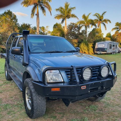 New Holden Rodeo TF MY02 LX Crew Cab Alberton, 2002 Holden Rodeo TF MY02 LX Crew Cab Blue 5 Speed Manual Utility