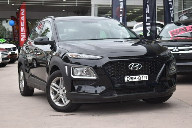 Used Hyundai Kona OS MY18 Active 2WD, 2018 Hyundai Kona OS MY18 Active 2WD Black 6 Speed Sports Automatic Wagon