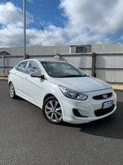 2017 Hyundai Accent RB6 MY18 Sport White 6 Speed Sports Automatic Sedan.