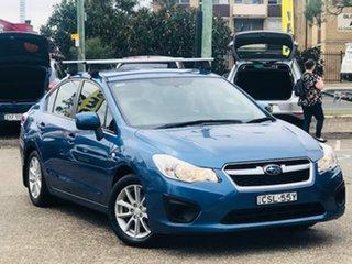 2014 Subaru Impreza G4 MY14 2.0i Lineartronic AWD Blue 6 Speed Constant Variable Sedan.