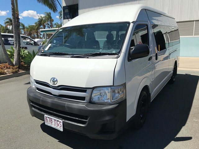 Used Toyota HiAce TRH223R MY11 Commuter High Roof Super LWB, 2010 Toyota HiAce TRH223R MY11 Commuter High Roof Super LWB White 4 speed Automatic Bus