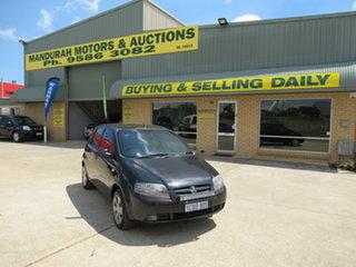 2007 Holden Barina TK Black 5 Speed Manual Hatchback