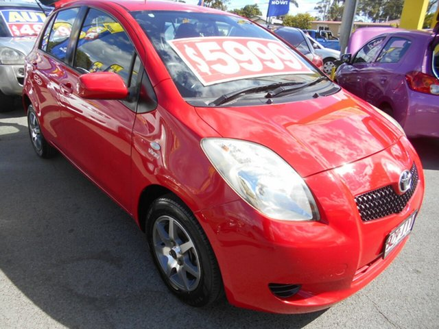 Used Toyota Yaris NCP91R YRX Springwood, 2005 Toyota Yaris NCP91R YRX Red 5 Speed Manual Hatchback