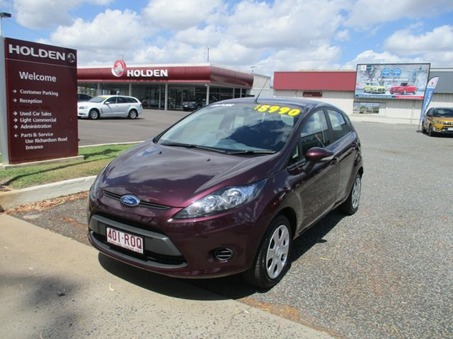 Used Ford Fiesta WS CL, 2010 Ford Fiesta WS CL Purple 5 Speed Manual Hatchback