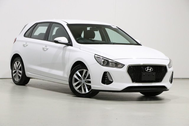 Used Hyundai i30 PD2 MY19 Active Bentley, 2019 Hyundai i30 PD2 MY19 Active White 6 Speed Automatic Hatchback
