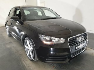 2012 Audi A1 8X MY12 Attraction Sportback S Tronic Black 7 Speed Sports Automatic Dual Clutch.