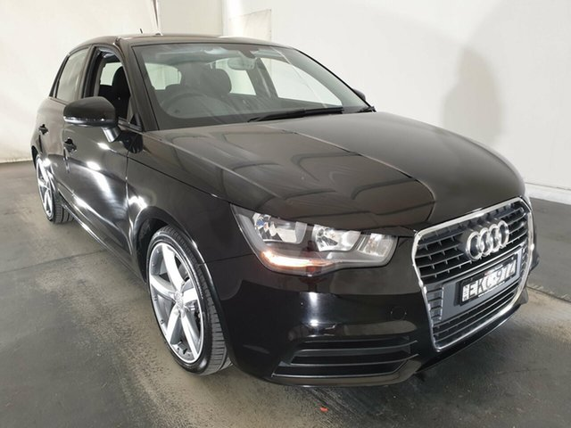 Used Audi A1 8X MY12 Attraction Sportback S Tronic, 2012 Audi A1 8X MY12 Attraction Sportback S Tronic Black 7 Speed Sports Automatic Dual Clutch