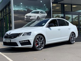 2019 Skoda Octavia NE MY20 RS Sedan DSG 245 White 7 Speed Sports Automatic Dual Clutch Liftback