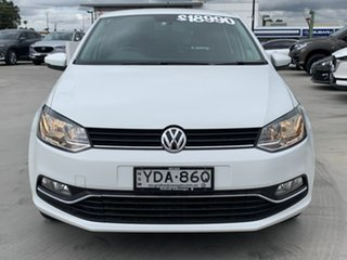 2017 Volkswagen Polo 6R MY17 66TSI Trendline White 5 Speed Manual Hatchback