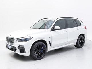2018 BMW X5 G05 MY19 xDrive 30d M Sport (5 Seat) White 8 Speed Auto Dual Clutch Wagon.