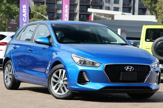 Used Hyundai i30 PD2 Update Active, 2018 Hyundai i30 PD2 Update Active Blue 6 Speed Auto Sequential Hatchback
