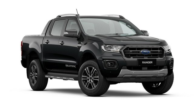 New Ford Ranger PX MkIII 2020.75MY Wildtrak, 2020 Ford Ranger PX MkIII 2020.75MY Wildtrak Shadow Black 10 Speed Sports Automatic