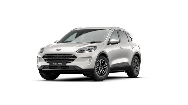 New Ford Escape ZH 2020.75MY Ebbw Vale, 2020 Ford Escape ZH 2020.75MY White Platinum 8 Speed Sports Automatic SUV