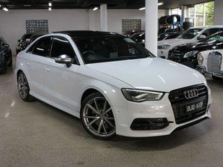 2016 Audi S3 8V MY16 S Tronic Quattro White 6 Speed Sports Automatic Dual Clutch Sedan.