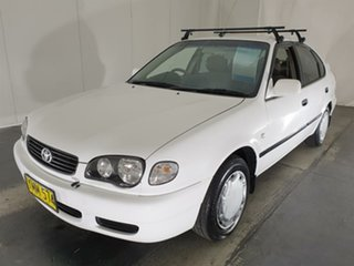 2001 Toyota Corolla AE112R Ascent White 5 Speed Manual Liftback.