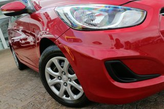 2012 Hyundai Accent RB Active Red 5 Speed Manual Hatchback.