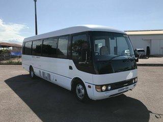 2007 Mitsubishi Rosa White Passenger Bus.