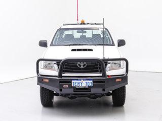 2015 Toyota Hilux KUN26R MY14 SR (4x4) White 5 Speed Manual Dual Cab Pick-up.