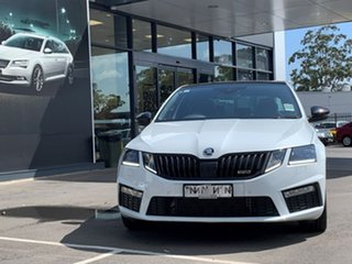 2019 Skoda Octavia NE MY20 RS Sedan DSG 245 White 7 Speed Sports Automatic Dual Clutch Liftback.