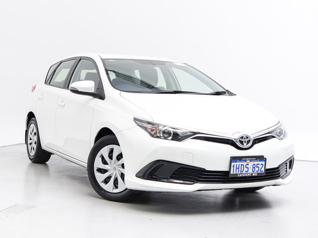 Used Toyota Corolla ZRE182R MY17 Ascent, 2018 Toyota Corolla ZRE182R MY17 Ascent White 7 Speed CVT Auto Sequential Hatchback