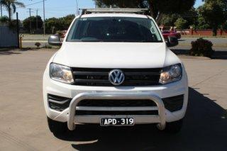 2017 Volkswagen Amarok 2H MY18 TDI420 (4x2) White 8 Speed Automatic Dual Cab Utility.