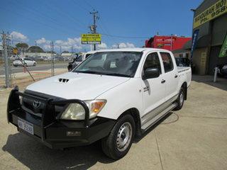 2007 Toyota Hilux KUN16R SR White 5 Speed Manual Dual Cab.