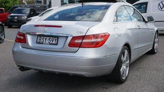 2010 Mercedes-Benz E-Class C207 E250 CGI Elegance Silver 5 Speed Sports Automatic Coupe