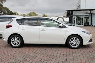 2016 Toyota Corolla ZWE186R Hybrid E-CVT Pearl White 1 Speed Constant Variable Hatchback Hybrid
