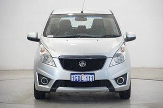 2010 Holden Barina Spark MJ MY11 CD Silver 5 Speed Manual Hatchback.