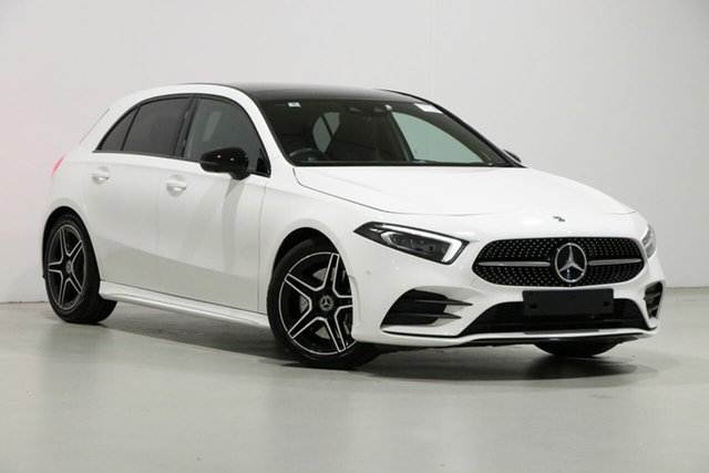 Used Mercedes-Benz A250 177 MY19 FWD, 2019 Mercedes-Benz A250 177 MY19 FWD White 7 Speed Auto Dual Clutch Hatchback
