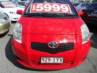 2005 Toyota Yaris NCP91R YRX Red 5 Speed Manual Hatchback.