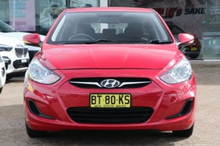 2012 Hyundai Accent RB Active Red 5 Speed Manual Hatchback