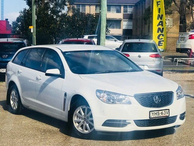 Used Holden Commodore VF MY14 Evoke Sportwagon, 2014 Holden Commodore VF MY14 Evoke Sportwagon White 6 Speed Sports Automatic Wagon