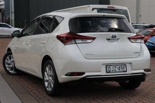 2016 Toyota Corolla ZWE186R Hybrid E-CVT Pearl White 1 Speed Constant Variable Hatchback Hybrid.